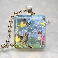 Firefly Fireflies Lightning Bug Insect Scrabble Tile Art Pendant Jewelry Charm