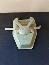 Vintage ACCO Green 2 Hole Paper Punch 10X Guide & Stop Catch Tray New York