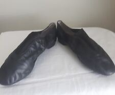 Ladies girls Bloch Black Leather Dance Flats slip on shoes slippers Sz 4.5