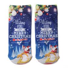 Men Women 3d Cartoon Elk Snowman Low Cut Ankle Cotton Socks Christmas Gifts 7
