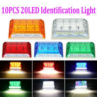 LED Front Side Marker Indicator Light Car Truck Van Trailers Amber Lamp 24V