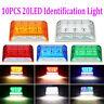 LED Front Side Marker Indicator Light Car Truck Van Trailers Amber Lamp 24V