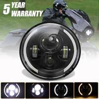 "DOT 7"" INCH LED Headlight Projector Black  for Harley Street Glide Softail FLHX"