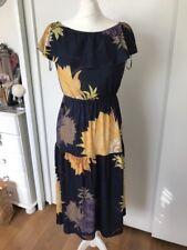 Next Women's Blue Floral Gypsy Dress Size 8