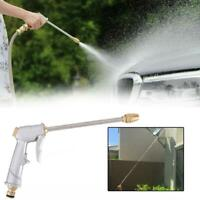 High Pressure Water Spray Gun Metal Brass Nozzle Garden Pipe Wash Car Hose C5I5