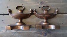 Antique Copper Trophy Bookends