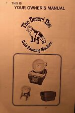 New listing Camel Mining Products Desert Fix Gold Panning Machine Owner's Manual 16pg Used