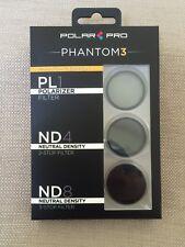 BRAND NEW!!! PolarPro DJI Phantom 4 / Phantom 3 Filter 3-Pack