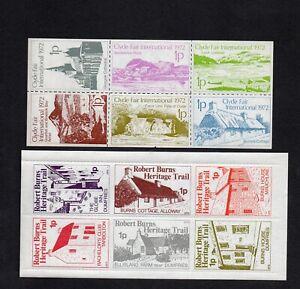 2 Different Scotland Cinderella UM/MNH Sheetlets Clyde International Fair/Burns