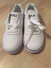 Nwt Boy's Size 13.5 Ralph Lauren White Hanford Sneakers