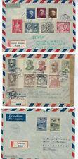 Three Czechoslovakia Registry Airmail to Uruguay, Cerveny Kostelec & Sobotka