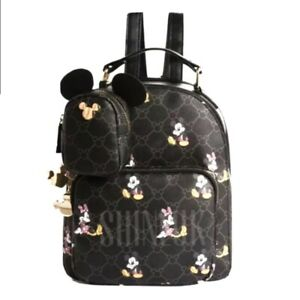 Disney Mickey-Minnie Mouse Faux Leather small Backpack Bag BRAND NEW Primark