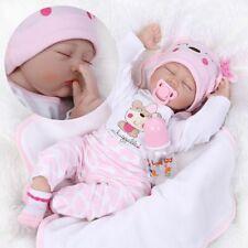 Poupée Reborn réaliste poupées bébé fille en vinyle de silicone réaliste