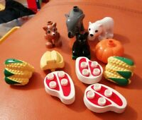 LEGO DUPLO ANIMALS & ACCESSORIES FOX POLAR BEAR ELEPHANT FOX CORN MEAT BANANAS
