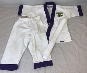 Century Lil' Dragon Uniform Karate/Taekwondo Sz 000 With White Belt