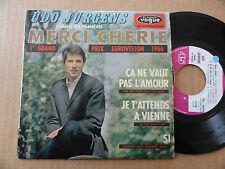 """DISQUE 45T DE  UDO JURGENS  """" MERCI CHERIE """" EUROVISION 1966"""