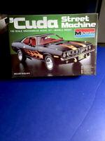 MONOGRAM '71 'CUDA STREET MACHINE 1/24#2701 F/S In Open Box Kit In 1985 Rare