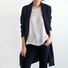 ZANZEA Womens Collared Cardigans Blazer Suit Coats Jackets Outwear Open Front
