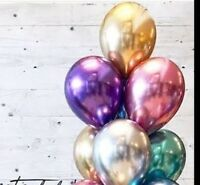 Gold Balloon Chrome Balloon Birthday Wedding Party Bride Baby Shower Engaged 11""