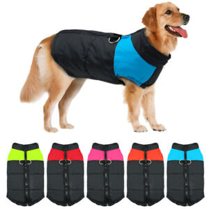 Large Dog Winter Coat Waterproof Warm Padded Jacket Clothes Windproof Rottweiler