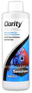 Seachem Clarity 250ml Water Clarifier for Marine/Freshwater Aquarium Fish Tank