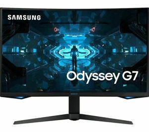 """SAMSUNG Odyssey G75 Quad HD 32"""" Curved QLED Monitor LC32G75TQSR (4 Marks) Black"""