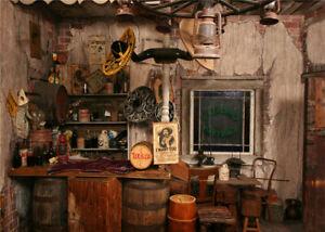 Vintage Indoor Scene Wild West Saloon Backdrop 7x5ft Vinyl Photo Background LB