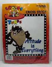 Leisure Arts Looney Tunes Taz Attitude is Everything Cross Stitch Kit 51003 NIP