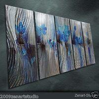 Abstract Metal Wall Art Original Painting Sculpture Indoor Outdoor Decor-Zenart