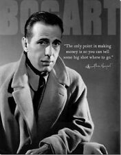 Metal Sign Movie Legend Humphrey Bogart The Only Point In Making Money Is -- NEW