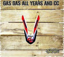 Gas gas ec 125 250 450 Frontal Guardabarros CALCOMANÍAS GRÁFICOS ADHESIVO Kit - - RED-MX3