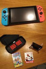 Nintendo SWITCH Blu Rosso Memory Card da 128GB Gioco Mario e accessori
