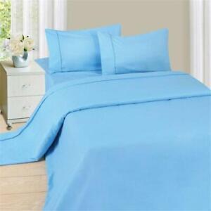 Lavish Home Series 1200 3 Piece Twin Sheet Set - Blue