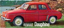 Renault Dauphine 1961-62 UK Market Small Format Sales Brochure 3-speed 4-speed