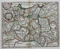 Original antique map CENTRAL EUROPE, POMERANIA, 'SUEVIA', Cluver, c.1697