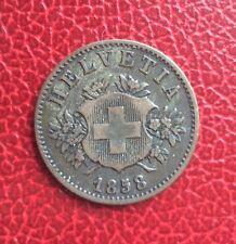 Suisse -  Rare et Jolie monnaie de  20 rappen 1858 B    -  millésime rare