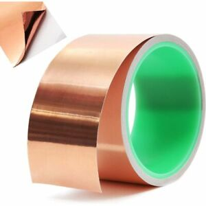 Copper Foil Tape with Conductive Adhesive for Electrical Repairs (2 in x 6 Yds)
