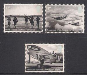 GB 2018 sg4071-4073 RAF Centenary Hurricane & Spitfire Set Of 3 MNH