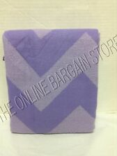 Pottery Barn Teen PBT Essential Dorm Throw Blanket Chevron Stripe Purple 50x60