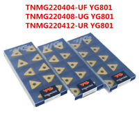 YG-1 10 x VCMT160404-UF YG801 VCMT331 CNC Turning Carbide inserts Replace VP15TF
