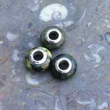 Connemara marble single European style bead. Irish Jewelry making craft supplies