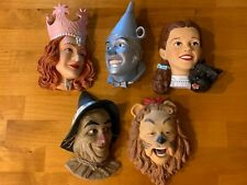 Wizard of Oz Movie Face Wall Plaque Lot of 5 Lmt. Ed. Numbered 1999 Tec Mint Htf