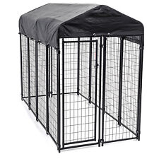 Lucky Dog Black Uptown Welded Wire Dog Kennel