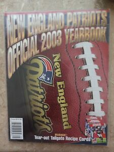 New England Patriots Official 2003 NFL Yearbook NM/MT