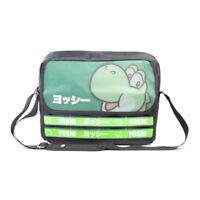 NEW! Nintendo Super Mario Bros. Yoshi Taped Messenger Bag Unisex Black/Green MB1