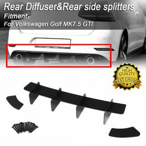 Rear Bumper Diffuser Valance Splitters For Volkswagen VW Golf 7.5 MK7.5 GTI