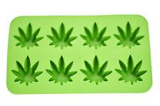 Cannabis Marijuana Pot Leaf Shape Stoner Ice Cube Tray Mold Novelty Gag Gift
