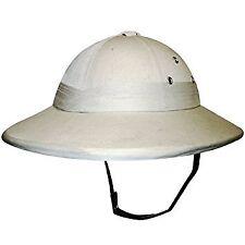 DELUXE SAFARI JUNGLE HAT HARD PITH HELMET FANCY DRESS