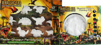 Set Of 2 Dinosaur Gift Set - Paint Your Own Plaque and Plaster Painting Set