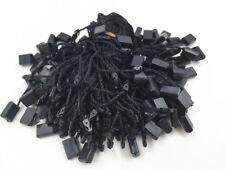 100Pcs Clothing Tag String Lock Fastener Labeling Tagging Supplies square black